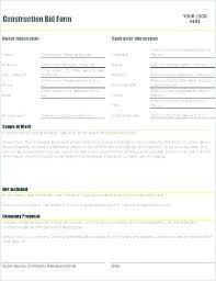 Job Proposal Template Word Writing Project Example Free Construction