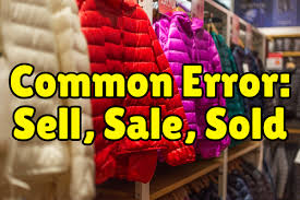 For Sale Or For Sell Common Errors In English Sell Sale Sold Espresso English