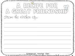 friendship recipe template. EngLife 10th grade