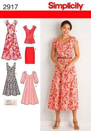 Dress Sewing Patterns Custom Simplicity Sewing Pattern Misses And Womens Dress Pattern Plus Size
