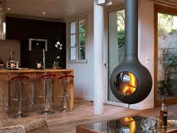 Suspended Indoor Fireplace