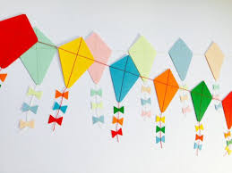 Lets Go Fly A Kite Paper Kite Garland Kite Decoration