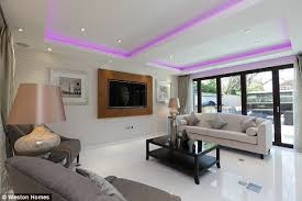 high tech lighting for home. the main reception room has concealed led lighting in ceiling and leads to outdoor high tech for home u