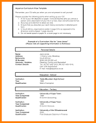 11 South African Cv Template Cv For Teaching