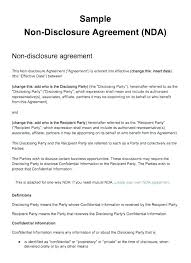 Simple Nda Template Non Disclosure Agreement Template Free Nda Contract Freelance