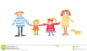 Dessin D Enfant De Famille Illustration De Vecteur Illustration