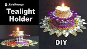 Diy Tea Light Candle Holders Diy Tealight Candle Holder From Waste Dvd And Bottle Cap Best Out Of Waste Jk Arts 1279