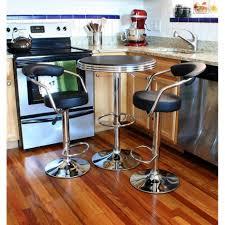 amerihome retro style in adjule height bar table set manhattan black pub padded chairs amerihome