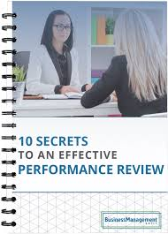 10 Secrets To An Effective Performance Review Examples And