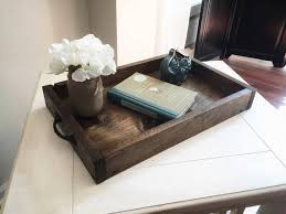 Decorative Trays For Ottoman Rustic wooden ottoman tray decorative tray coffee table 47