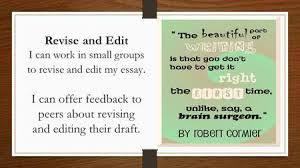 expository essay expository essay what is an expository essay  revise and edit i can work in small groups to revise and edit my essay