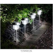318719-4pk-Solar-Stainless-Steel-Garden-Post-Lights-