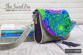 Free Bag Patterns Awesome FREE The Sweet Pea Saddle Bag PDF Sewing Pattern Blue Calla Patterns