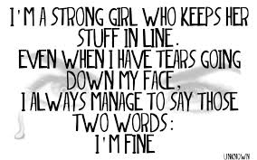 Im Fine Quotes Custom I'm Fine Quote By LaCeDeMoTiOnS On DeviantArt