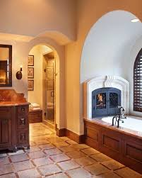 137 best bathroom fireplaces images on bath bath tub and bathroom feature wall tile