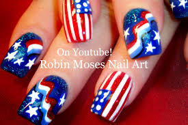 4th of July Nail Art Design Tutorial - YouTube