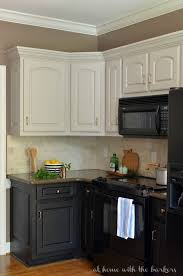 kitchens with painted black cabinets.  Kitchens Black Painted Kitchen Cabinets  A Review Throughout Kitchens With L