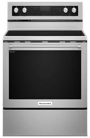 cooking s kitchenaid 6 4 cu ft five element electric convection range stainless