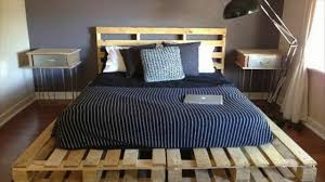 Pallet Bedroom Pallet Bed Ideas On A Budget Youtube