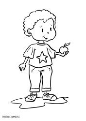 Disegni Di Bambini E Ragazzi Da Stampare E Colorare Portale