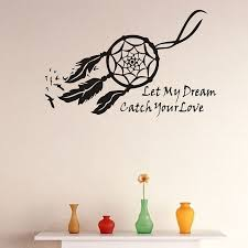 Dream Catcher With Quote Simple Wall Decals Dream Catcher Sticker Let My Dream Bedroom Quote