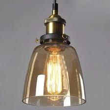 amber pendant lighting. Mini Dome Shade Amber Glass LED Pendant Light In Industrial Style Lighting N