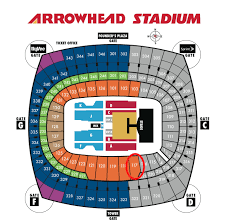 Suntrust Park Seating Chart With Rows Arrowhead Stadium Seating Chart With Rows Google Search