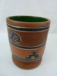 Leopoldo De Mexico Signed Latin America Pottery Vase Ebay