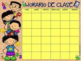 Resultado de imagen para HORARIO DE CLASES