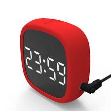 <b>Travel LED digital snooze</b> alarm clock with 2 alarms Voice control ...