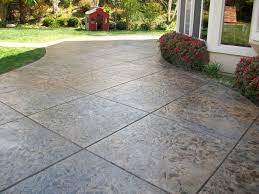 cost of concrete patio awesome cozy look stamped concrete patio pattern with colors option