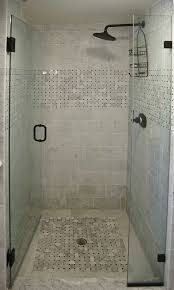 bathroom: Modern Bathroom Shower Ideas Using Subway Tiles Wall Ideas And  Completed With Stainless Black