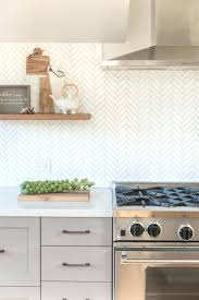 herringbone backsplash ...