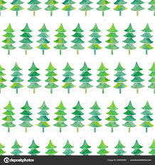 Watercolor Seamless Pattern Textured Xmas Trees Simple Christmas
