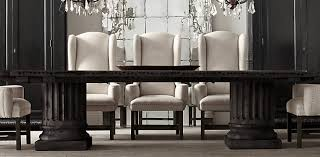 formal dining rooms with columns. formal dining rooms · architectural column salvaged wood table | restoration hardware with columns t