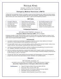 Emt Resume Sample Monster Com With Emergency Medical Technician