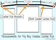 bay window curtain rod. Secret To {Super Cheap} Bay Window Curtain Rods Rod