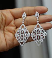 silver crystal bridal earring bridal jewelry chandelier earring crystal wedding earrings 2374857 weddbook