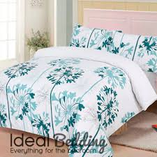 agapanthus teal duvet quilt bedding cover pillowcase bedding set duvet sets complete bedding sets bed sheets pillowcase