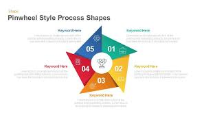 Pinwheel Style Process Shapes For Powerpoint Keynote