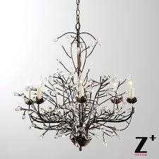 decoration diy tree branch shadow chandelier