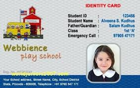 Identity Card Format For Student Student Identification Card Template School Identity Free Spitznas