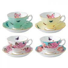 teacup  saucer set of   miranda kerr for royal albert  us