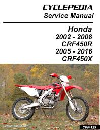 Honda Crf450r Honda Crf450x Print Motorcycle Service Manual By Cyclepedia Press Llc Jpg