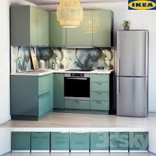 Cuisine Ikea Kallarp Turquoise