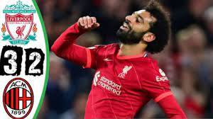 أهداف مباراة ليفربول 3-2 والميلان في دوري ابطال اوروبا - مباراة للتاريخ  وتالق محمد صلاح - YouTube