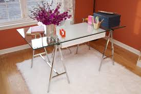 glass top office table chic. Awesome Style Of Small Computer Desks Using Visible Glass Top Office Table Chic T