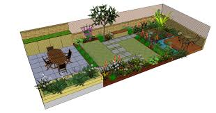 Small Picture Richmond garden design drawn using SketchUp by FORK Garden Design