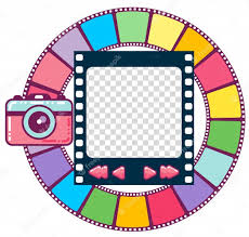 cute colorful photo frame image viewer