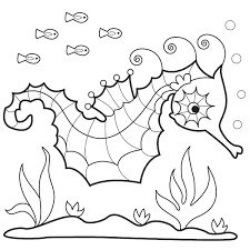 Small Picture Seahorse Coloring Pages